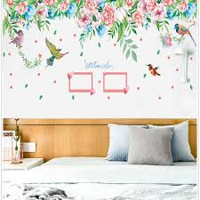 Colorful Flowers Flying Birds Wall Stickers Home Decor Picture Frame Wall Mural Living Room Background Wall Decals Diy Decoration Art Football Wall Stickers Full Wall Decal From Magicforwall 7 03 Dhgate Com