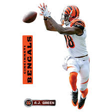 Fathead A J Green Cincinnati Bengals 3 Pack Life Size Removable Wall Decal