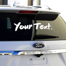 Custom Text Custom Vinyl Stickers Decals Vinyl Sickness