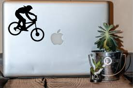 Female Mtb Rider Mountain Bike Transfer Vinyl Decal Etsy