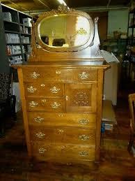 antique oak vanity dresser tiger
