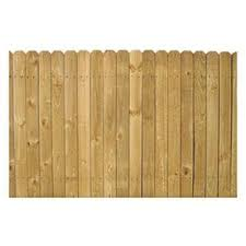 Shop Severe Weather Pine Dog Ear Pressure Treated Wood Fence Panel Common 4 Ft X 8 Ft Actual Wood Fence Fence Panels Lowes Wood