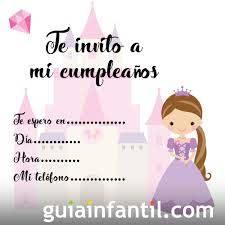 Invitaciones Con Princesas Para Fiestas De Cumpleanos Infantiles