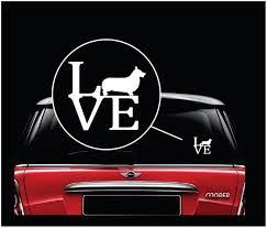 Love My Pembroke Welsh Corgi Decal Dog Stickers Custom Sticker Shop