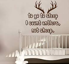 Antler Wall Art Hunting Nursery To Go To Sleep I Count Antlers Not Sheep Decal Wall Decor Home Living