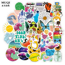 50 Cute Stickers Trunk Waterbottles And Laptop Aesthetic Trendy Decal Sticker Pack For Kids Teens Girls Teaching Vinyl Stickers Buy At The Price Of 4 70 In Aliexpress Com Imall Com