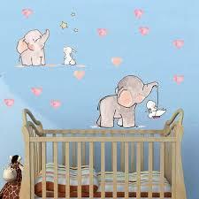 Elephant Rabbit Nursery Girls Boys Wall Art Sticker Decal Home Baby Room Decor Ebay