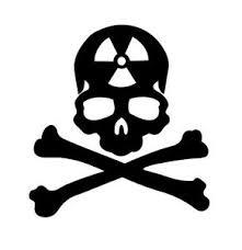 Skull Radioactive Funny Humor Sticker Vinyl Decal Car Window Doors Bumper