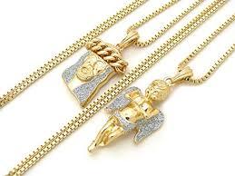 fashion 21 gold silver tone micro angel