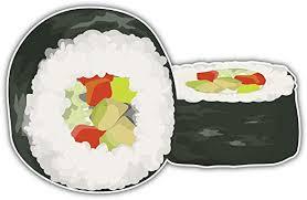 Amazon Com Skylabel Sushi Rolls Bumper Sticker Vinyl Art Decal For Car Truck Van Wall Window 10 X 6 Home Kitchen