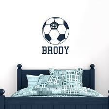 Custom Soccer Ball Wall Decals Kids Sports Room Custom Soccer Kids Room Wall Decals