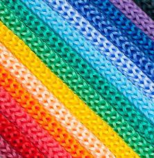 Шнур полиэфирный 4 мм, 24-прядный, без сердечника (цветной) в Спб