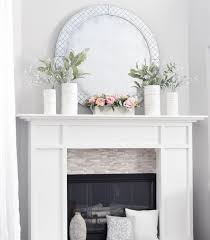 brick fireplace decorative mirrors