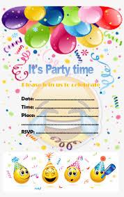 Invitaciones De Emoji Happy Birthday Wishes Png Image