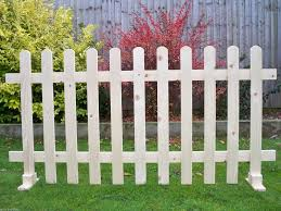 Freestanding Portable Event Display Barrier Temporary Wooden Picket Fence Panels In 2020 Picket Fence Panels Fence Panels Backyard Fences