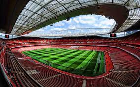 تحميل خلفيات ملعب الإمارات فارغة الملعب لندن إنجلترا كرة القدم ملعب ارسنال ملعب كرة القدم آرسنال الملاعب الإنجليزية Hdr عريضة 2880x1800 جودة عالية Hd صور خلفيات