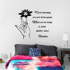 بوذا إقتباس جدار صائق زهرة اللوتس تصميم خلفيات كل صباح نولد مرة