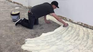 spreading glue how to glue down carpet