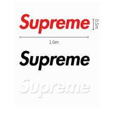 Supreme Box Logo Sticker Vinyl Decal Skateboard Laptop F Ck Off Silver Metallic Stickers Decals