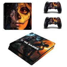 Shadow Of The Tomb Raider Ps4 Slim Skin Sticker Vinyl For Playstation 4 Console And 2 Controllers Ps4 Slim Skin Stickers Decal Stickers Aliexpress