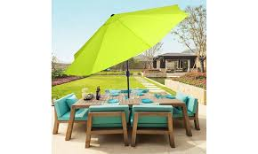 patio umbrella with auto tilt lime
