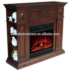 2 sided wooden electric fireplace with