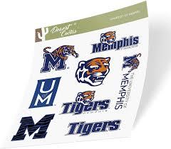 Amazon Com University Of Memphis Tigers Ncaa Sticker Vinyl Decal Laptop Water Bottle Car Scrapbook Type 2 Sheet Arts Crafts Sewing