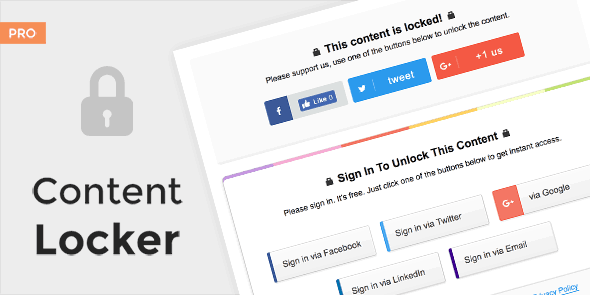 MyThemeShop Content Locker Pro WordPress Plugin