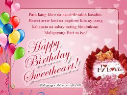 tagalog birthday messages for girlfriend greetings com