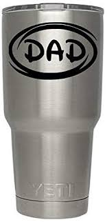 Amazon Com Classy Vinyl Creations Dad Oval Decal Black For Tumblers Cups Or Mugs Tumbler Not Included Decals Created For All Brands Of Tumblers Cups Mugs Black Home Kitchen