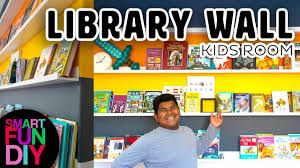 Boy Transforms Bedroom Into Library Diy Book Wall In Your Kids Room In One Day Smartfundiy Youtube