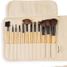 bamboo natural hair makeup brush set