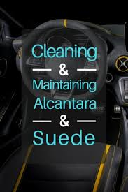 maintaining alcantara suede