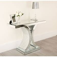 mirrored console table abreo home furniture