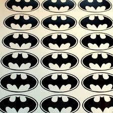 32 Batman Logo Vinyl Stickers Batman Symbol Batman Wall Decal Etsy