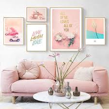 nordic decoration home poster roses flowers perfume quotes art