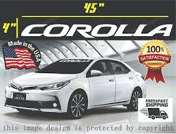 Corolla Toyota Vinyl Decal Sticker Window Windshield Banner All Years And Models Ebay