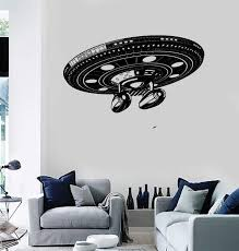 Wall Stickers Vinyl Decal Space Alliens Spaceship Battleship Cool Deco Wallstickers4you