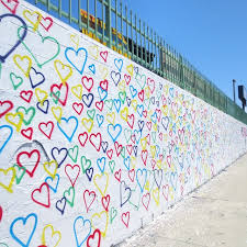 colorful heart wall