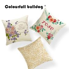 cushion cover champagne rose flowers