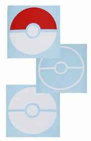 Pokemon Go Pokeball Vinyl Window Decal Sticker Ebay