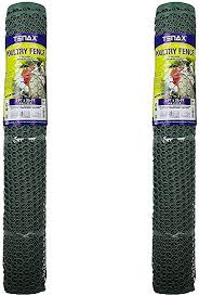 Tenax 72120546 Hex Poultry Fence Pack Of 2 3 X 25 Black