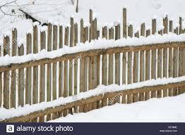Park Garden Winter Fence Fence In Fencing Gardens Wooden Fence Snow Park Garden Stock Photo Alamy