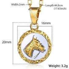 horse head pendant necklace for women
