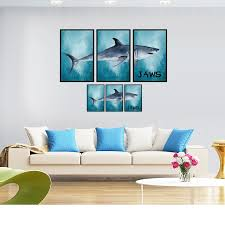 2019 New 3d Creative Jaws Wall Sticker Living Room Bathroom Decorative Poster Great White Shark Modern Home Decor Wall Decals Decorative Wall Decal Wall Decalswall Sticker Aliexpress