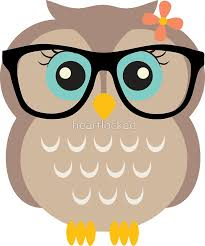 cute hipster girl owl sticker by