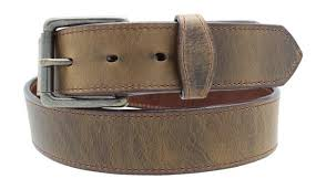distressed leather belt oil tanned usa