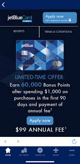 jetblue plus card 60 000 point bonus