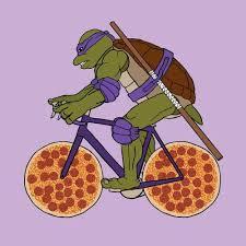 Tmnt Donatello On Pizza Wheels Peel And Stick Vinyl Decal Sticker Sticky Addiction