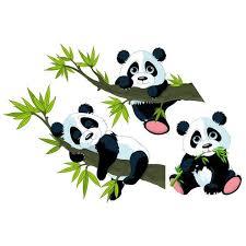 Illustration Enfant Window Sticker Panda Bear Set Best Illustration Art